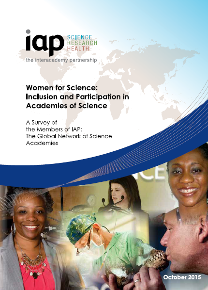 Cover of IAP Women for Science report