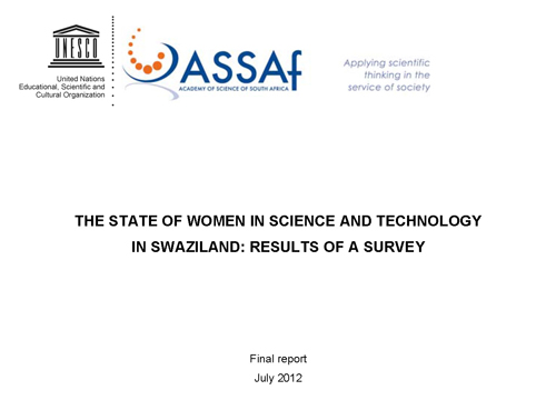 Women ST Swaziland Final Report-July-2012